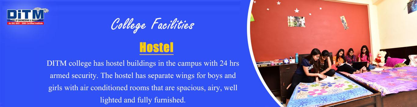 DITM Separate Hostel Facility for Boys and Girls